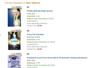Fever and Enchanted Frost on Hot New Releases in Teen