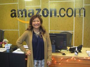 Kailin Gow at Amazon Headquarters in Seattle for Lunch