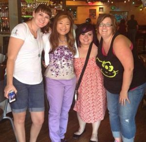 Kailin Gow with Blogger Fans at Vegas Signing