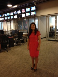 Kailin Gow at CBS Television for an Interview