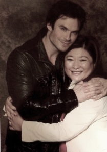 Author Kailin Gow and Ian Somerhalder