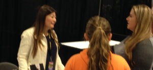 Kailin Gow talking to Fans at Atlanta Walker Stalker Con
